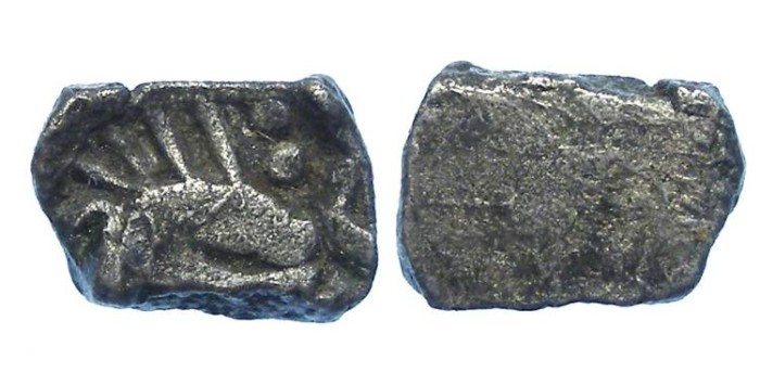 Ancient Coins - India,Kingdom of Avanti.  ca. 400 to 312 BC. Silver 1/2 Karshapana.
