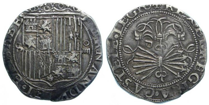 Ancient Coins - Spain, Kingdom of Castile, Ferdinand and Isabella, AD 1474 -1504, 4 real.
