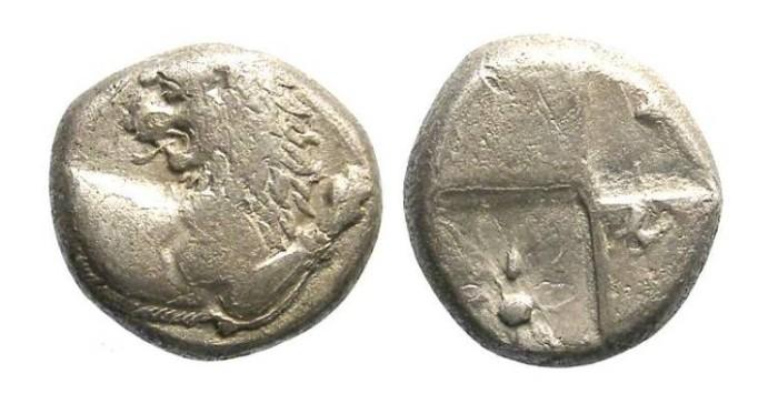 Ancient Coins - Thrace, Chersonesos. 400 to 350 BC. Silver hemidrachm.
