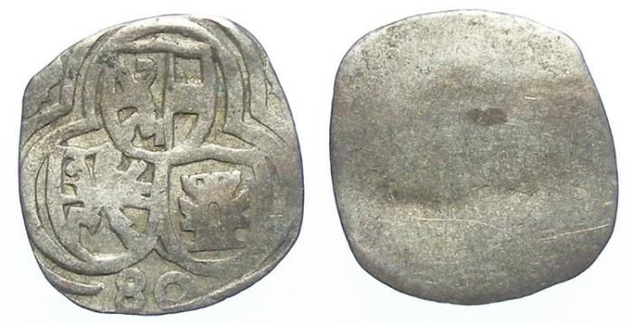 Ancient Coins - Austria, Salzburg. Johann Jakob Khuen Von Belasi, AD 1560 to 1586. Silver Zweier. Dated (15)80.