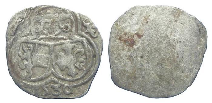 World Coins - Austria, Salzburg. Matthaus Lang von Wellenburg, AD 1519 to 1540. Silver Zweier. 1530