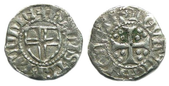 Ancient Coins - Estonia. Reval. Livonian order, Anonymous Schilling. late 14th century.
