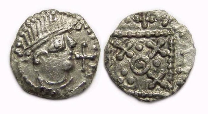 Ancient Coins - Britain, Anglo-Saxon, ca. AD 710 to 720. Secondary series sceattas.