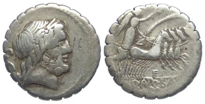 Ancient Coins - Roman Republic. Q Antoninus Balbus. ca. 83 BC. Silver denarius.