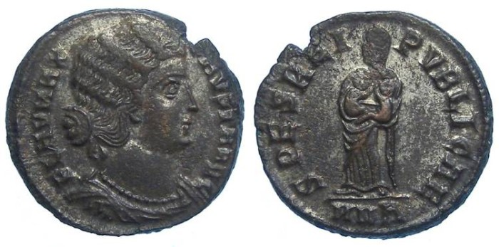 Ancient Coins - Fausta, wife of Constantine the Great. AE-3