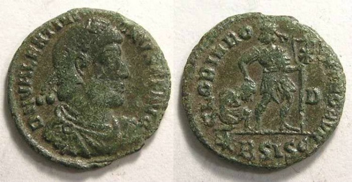 Ancient Coins - Valentinian I, AD 365 to 375.  AE 3.