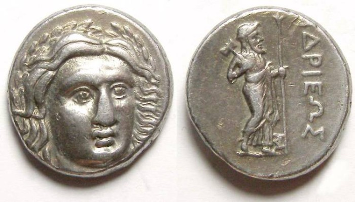 Ancient Coins - Satraps of Caria. Halikarnassos.  The Satrap Hidrieus, ca. 351 to 344 BC. Silver didrachm. RARE SATRAP.