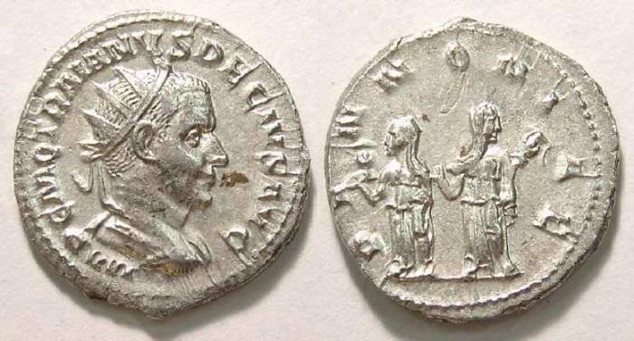 Ancient Coins - Trajan Decius, AD 249-251. Antoninianus