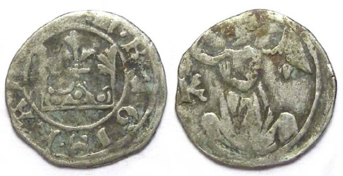 Ancient Coins - Hungary. Karl Robert, AD 1308 to 1342. Silver Denar or Parvus.