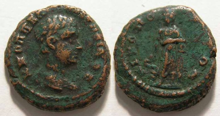 Ancient Coins - Diadumenian, AD 217 to 218, AE 16 from Nicopolis ad Istrum