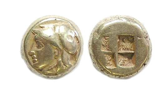 Ancient Coins - Ionia, Phokaia.  ca. 400 to 330 BC.  Electrum Hekte.