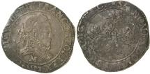 World Coins - French Royal. Henri III, 1578 P (Dijon).  AR. Franc.