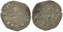 World Coins - Anglo-Gallic. Henry II, AD 1154 to 1189. Billon Denier.
