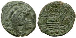 Ancient Coins - Roman Republic. Anonymous. After 211 BC. AE Quadrans.