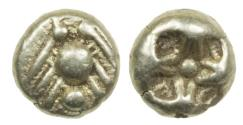 Ancient Coins - Archaic Greek - electrum geometic 1/12 stater. early 6th century BC.