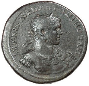 Ancient Coins - Caracalla bronze medallion from Cyzicus.