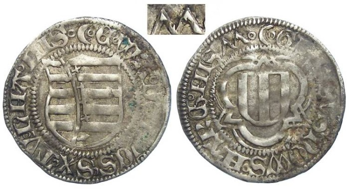 World Coins - Germany, Saxony.  Silver Spitzgroschen.  DATED 1477.