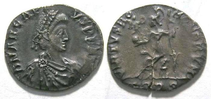 Ancient Coins - Arcadius. AD 384-408.  Silver Siliqua.