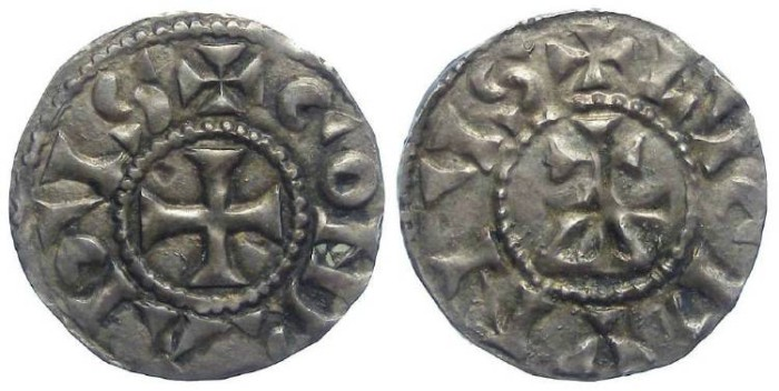 Ancient Coins - Carolingian, Conrad the Pacific. AD 937 to 993. The Middle Kingdom.