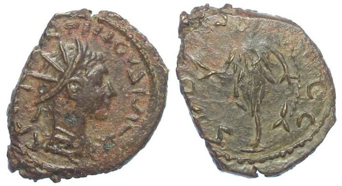 Ancient Coins - Barbarous imitative of a Tetricus II, AD 273 to 274. Bronze Antoninianus