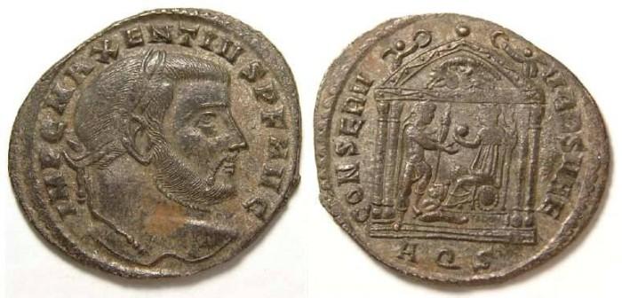 Ancient Coins - Maxentius, AD 306-312. Bronze follis.