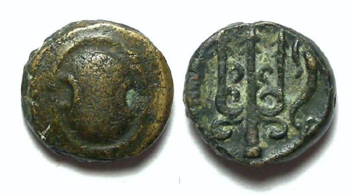 Ancient Coins - Boeotia, Thebes. 315 to 288 BC. AE 11