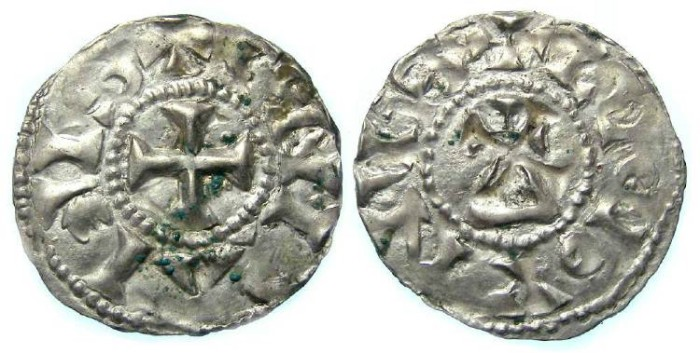 World Coins - Carolingian, Conrad the Pacific. AD 937 to 993. The Middle Kingdom.