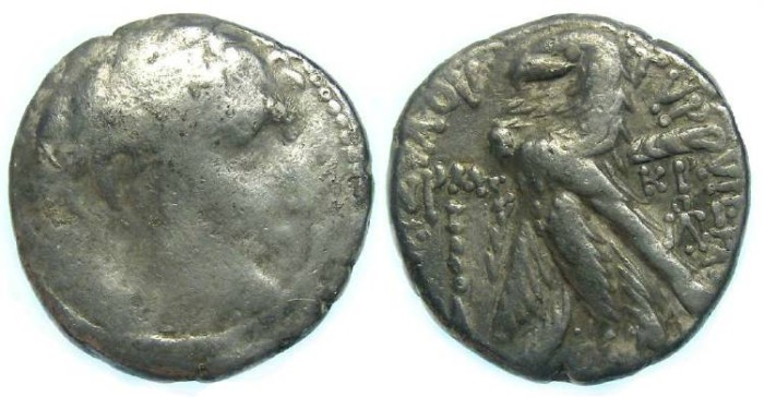 Ancient Coins - Phoenicia. Tyre silver shekel (30 Pieces of silver type), struck during the lifetime of Christ.