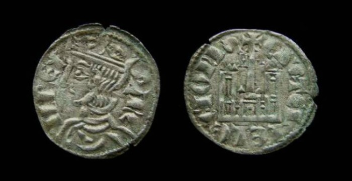Ancient Coins - Spain, Castile & Leon. Sancho IV, AD 1284-1295.