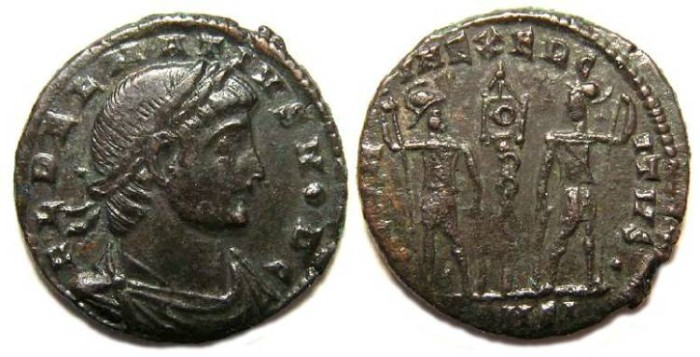 Ancient Coins - Delmatius, AD 335 to 337. AE 3/4