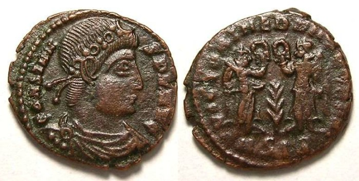 Ancient Coins - Constans. AD 337 to 350. AE 4.