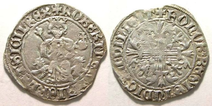 Ancient Coins - Italy, Naples, Robert II D'Anjou, AD 1309 to 1343.