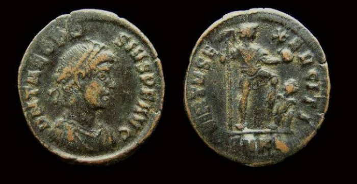 Ancient Coins - Theodosius I, AD 379 to 395, AE 2.