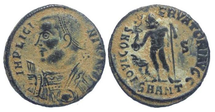 Ancient Coins - Licinius I, AD 308-324. Bronze reduced follis (or AE 3).