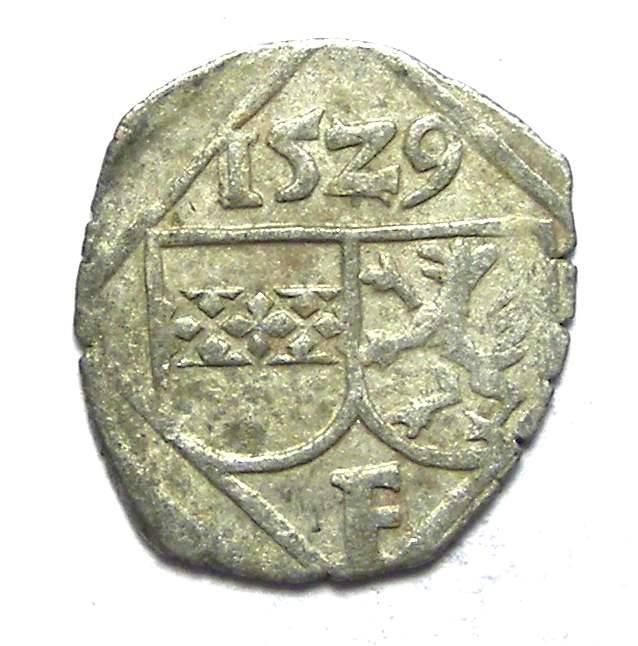 Ancient Coins - Austria, Styria. Ferdinand I, AD 1522 to 1556. Billon Pfennig. AD 1529.