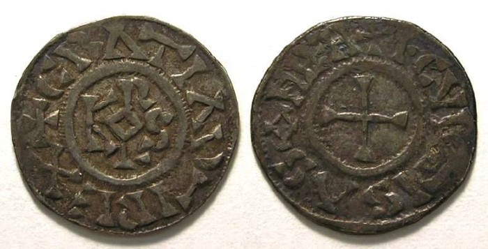 Ancient Coins - Carolingian, West Frankish Kingdom. Charles the Bald. AD 840 to 877.