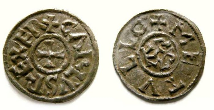 Ancient Coins - Carolingian, West Frankish Kingdom. Charles the Bald. AD 840 to 870.