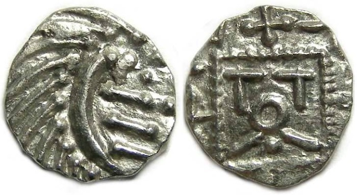 Ancient Coins - Britain, Anglo-Saxon, ca. AD 695 to 710. Continental type sceattas used in Britain.