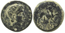 Ancient Coins - Iberian Celtic. Castulo in Spain. 1st century BC. AE 20.