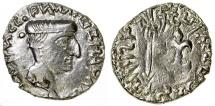 Ancient Coins - INDIA.  WESTERN KSHATRAPAS.  NAHAPANA, AD 105-125.  AR DRACHM.