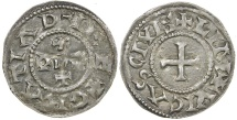 World Coins - Carolingian, Eudes, AD 888 to 897. King of the west Franks.