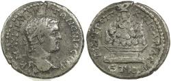 Ancient Coins - Caracalla. AD 198-217. Silver didrachm from Caesarea in Cappadocia.