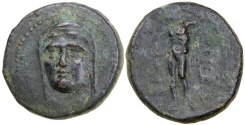 Ancient Coins - Perrhaiboi in Thessaly.  400-344 BC.  AE 22.