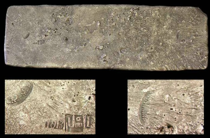 Ancient Coins - Spanish Tumbaga silver bar, recoved from an early 16th century Spanish shipwreck. 14.84 pounds.