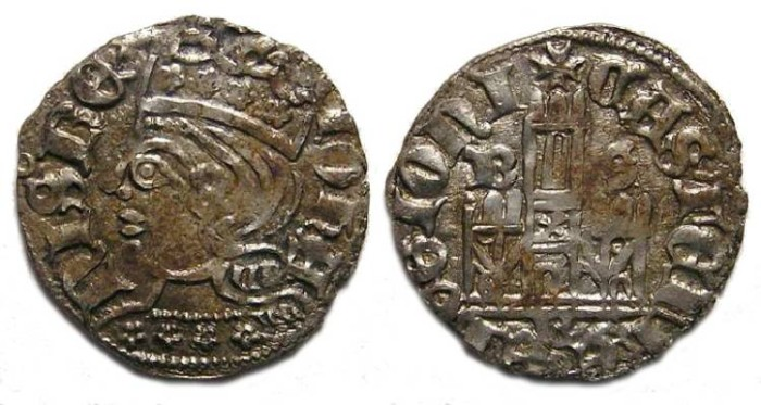 Ancient Coins - Spain, Castile & Leon. Juan I, AD 1379 to 1390.