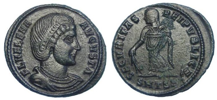 Ancient Coins - Helen, mother of Constantine the Great. AE 3.