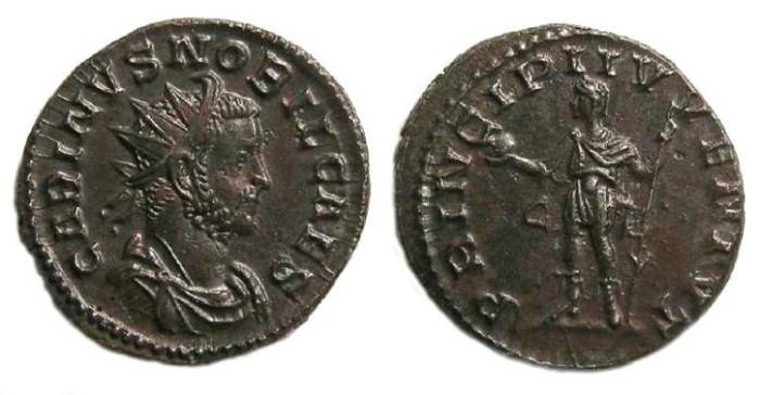 Ancient Coins - Carinus, AD 283 to 285. Bronze Antoninianus.