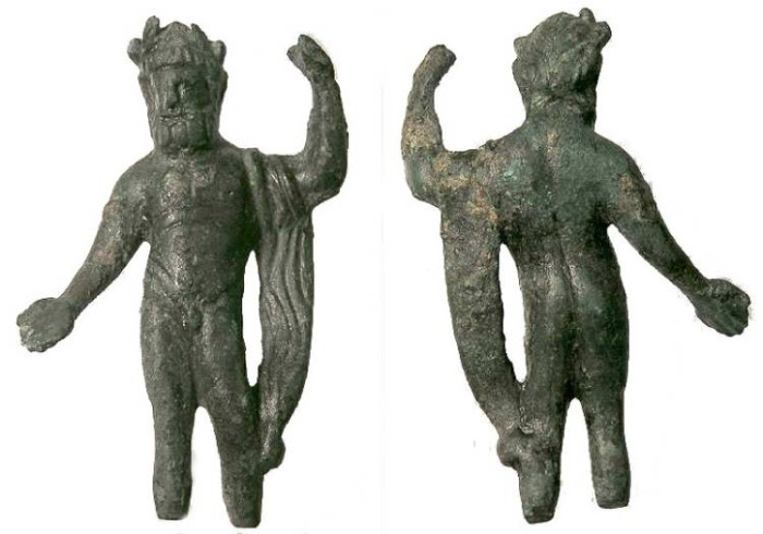 Ancient Coins - Roman bronze figure of Jupiter.  ca. 2nd to 3rd century AD.