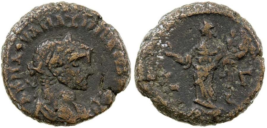 Ancient Coins - ROMAN EGYPT, ALEXANDRIA, MAXIMIANUS, AD  286-305. POTIN TETRADRACHM.