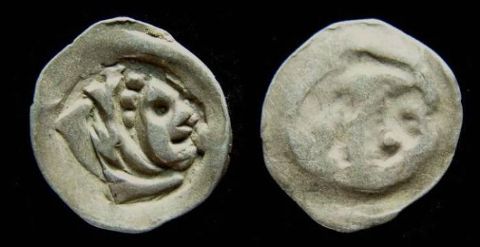 Ancient Coins - Austria. Albrecht II, AD 1330 to 1358. Silver Pfennig.